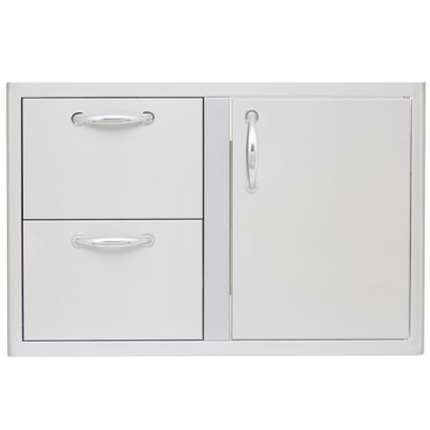 Blaze 32-Inch Access Door & Stainless Steel Double Drawer Combo