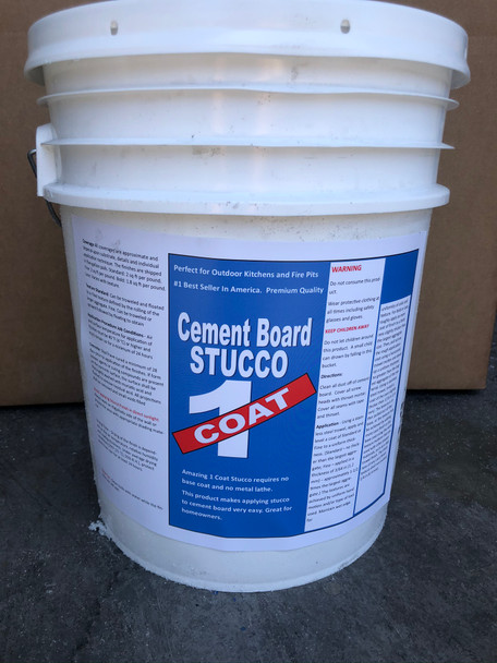 Cement Board Stucco (5 gallons)