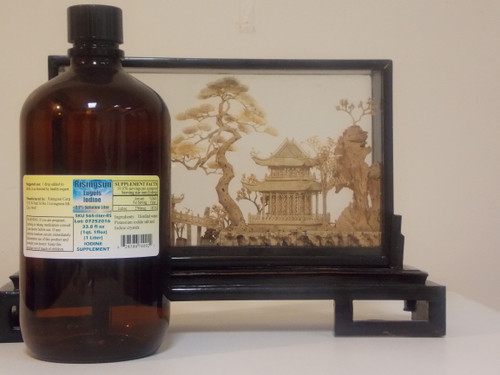 Risingsun's Lugol's 2.2% Iodine Solution 33.8 oz. (Liter)