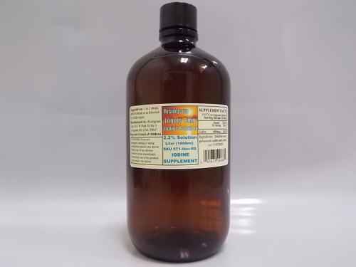 Risingsun's McAdam (Lugols) 2.2% Iodine-Iodide 6mg solution  - Liter (1000ml)