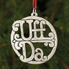 Pewter Uffda Ornament