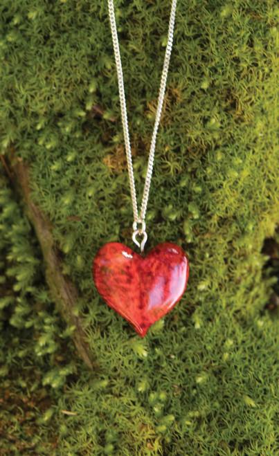 Finnish Burlwood Heart Necklace