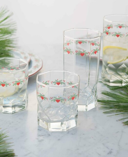 Hearts & Pines Glassware