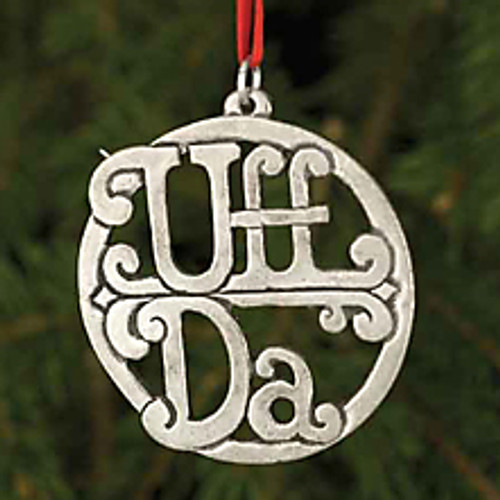 Pewter Uffda Ornament