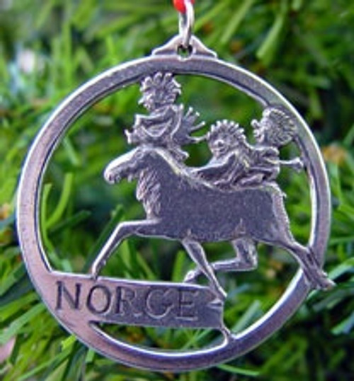 Pewter Moose/Troll Ornament