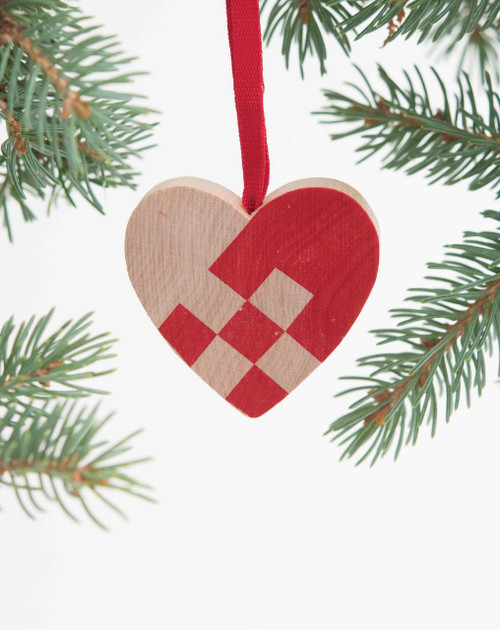 Wooden Heart Ornament
