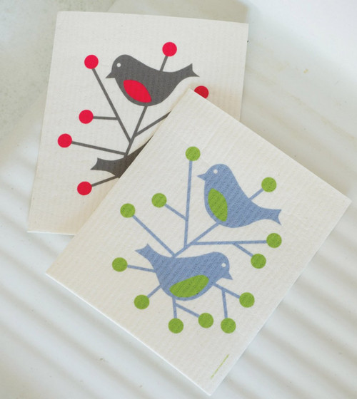 Swedish Dishcloth - Birds
