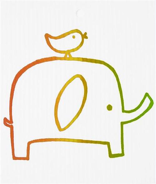 Swedish Wash Towel - Elephant