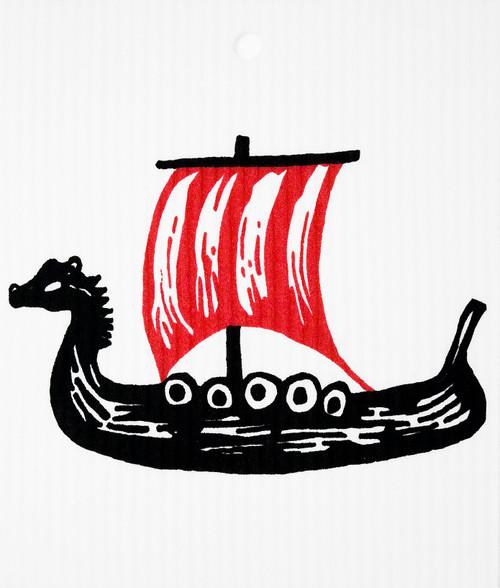 Swedish Wash Towel - Viking Ship