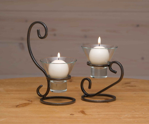 Danish Iron Candleholders