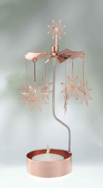 Rotary Candleholder - Copper Stars