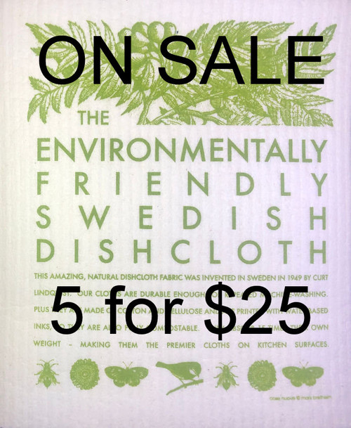 Swedish Dishcloth - 5 for $25