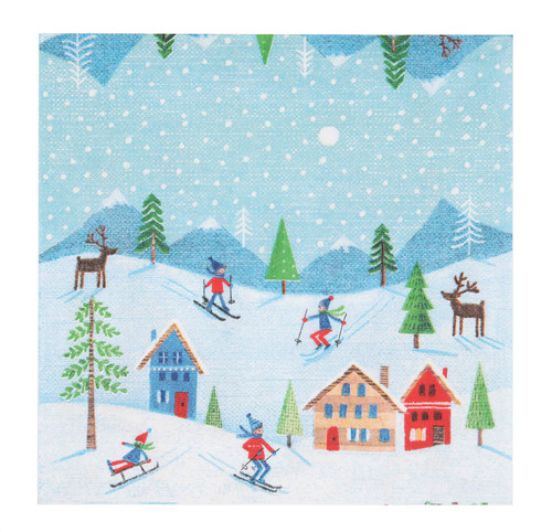 Finnish Napkins - Skiers