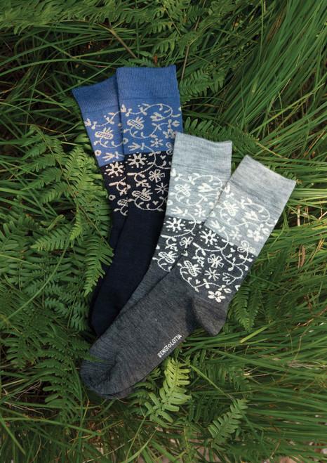 Swedish Merino Wool Garden Socks