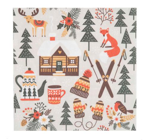 Finnish Napkins - Winter Cabin