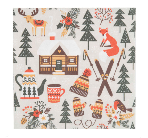 Finnish Napkins - Winter Cabin