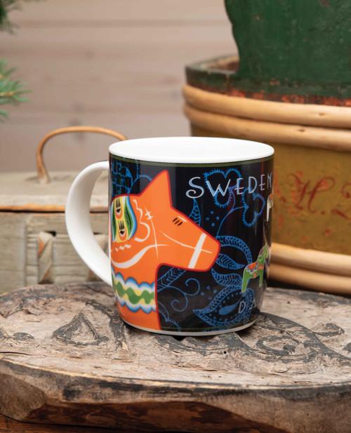 Dala Horse Porcelain Mug
