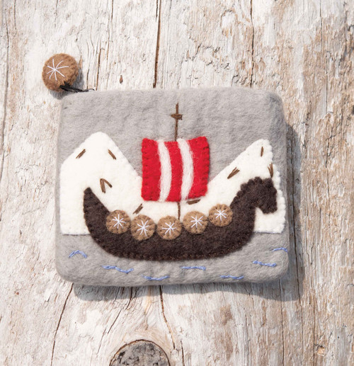 Viking Ship Felt Purse