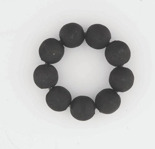 Bead Candle & Napkin Rings - Black
