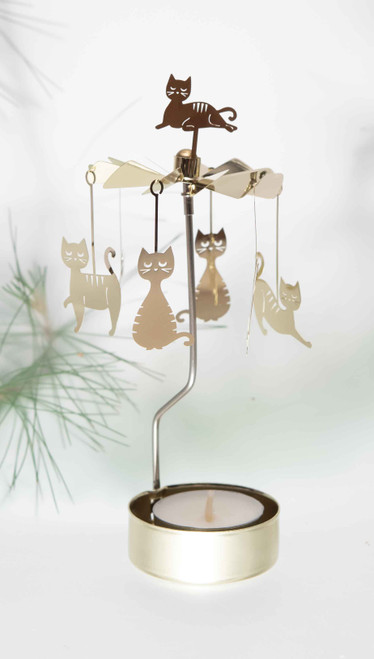 Rotary Candleholder - Cats