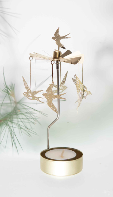 Rotary Candleholder - Swallows