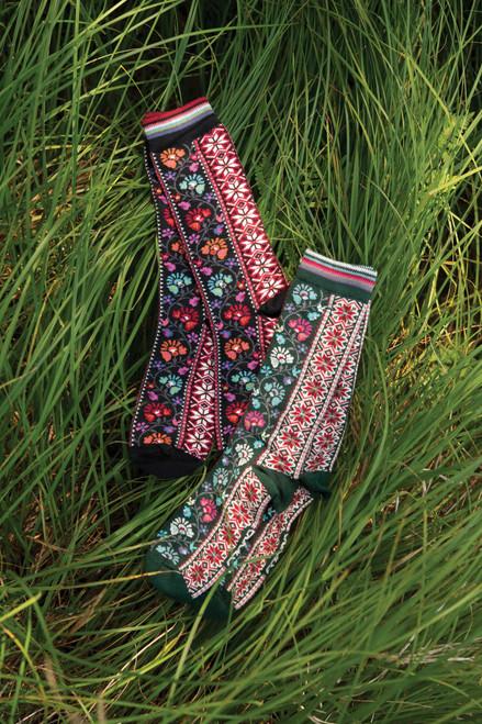 Ozone Floral Ribbons Socks