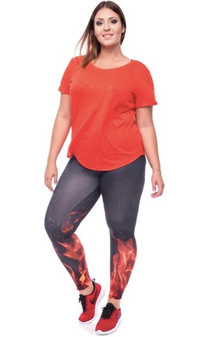 Black Fire Leggings XXL