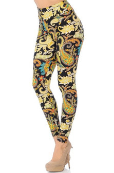 Lustered Leaf Leggings