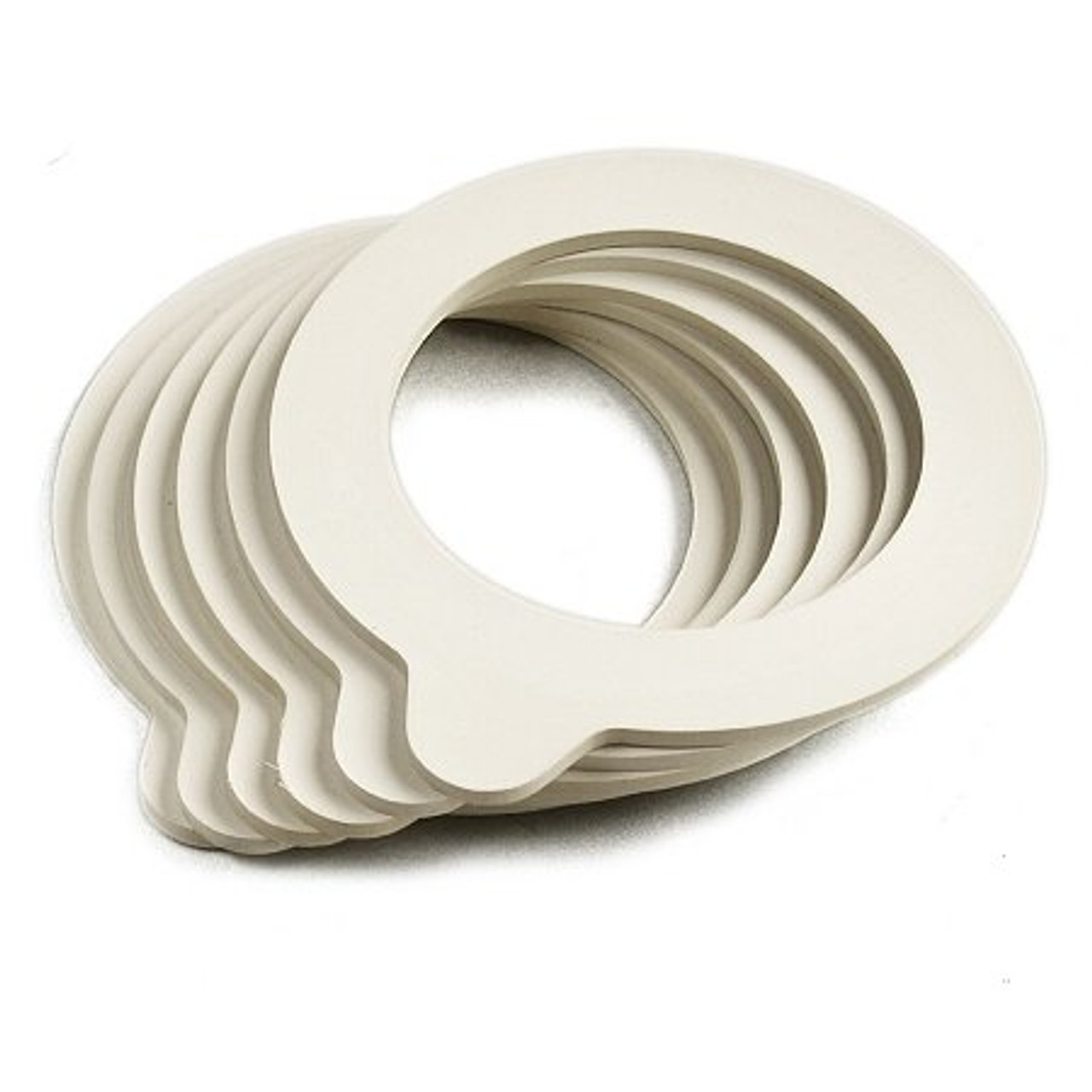 "Bormioli Rocco Small Fido Gaskets - White - 3.25"" (6-1/2#) - Set of 6 (BR 890780M83021990)"