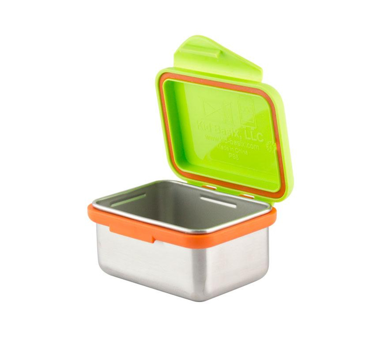 Kid Basix - Safe Snacker™ Stainless Steel Food Container with Attached Lid - 7 oz. - Lime (NW 00297 )