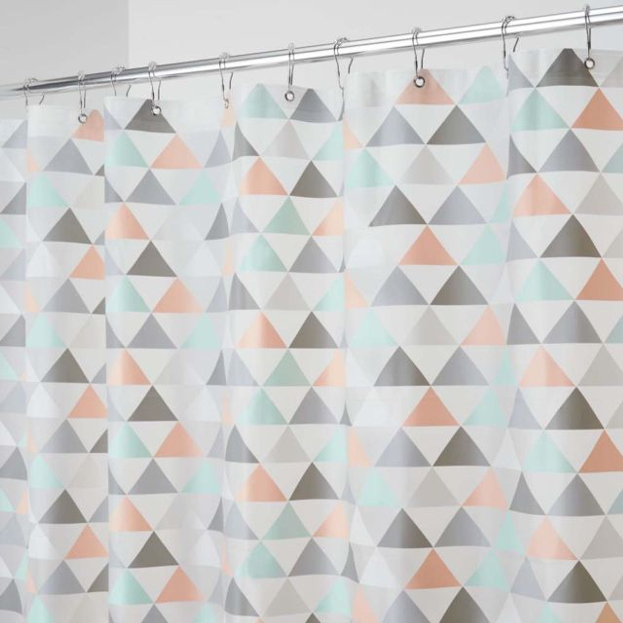 Interdesign PEVA Printed Shower Curtain - Triangles (ID 59841)