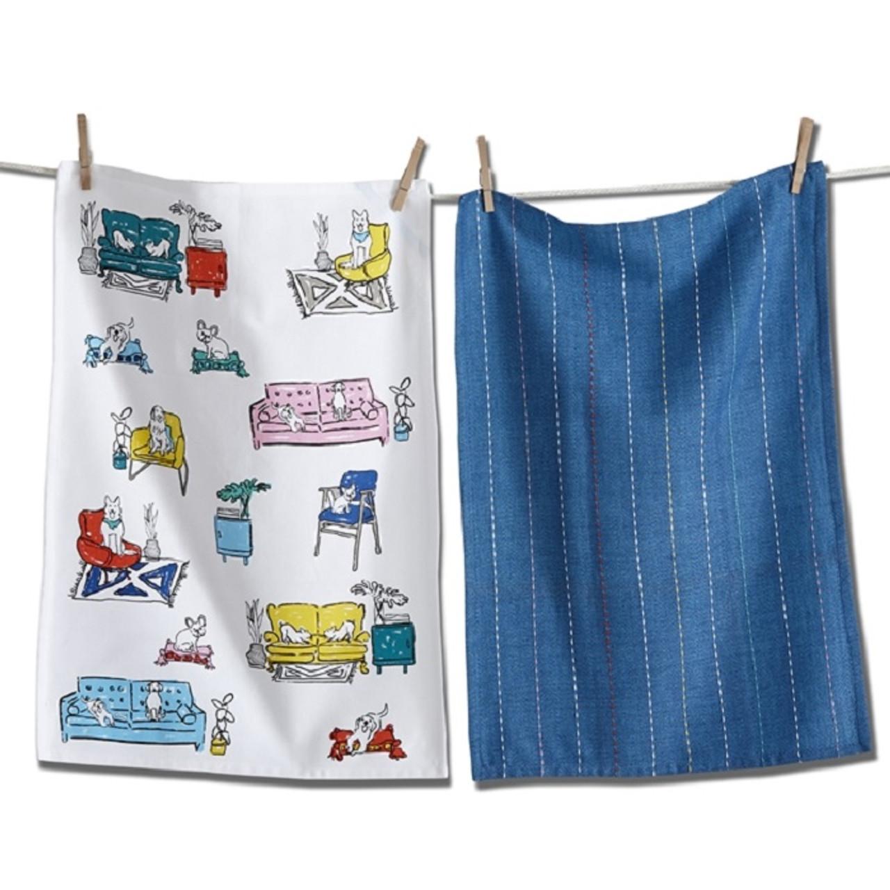 tag Spoiled Dog Dish Towel Set (TAG G11297)