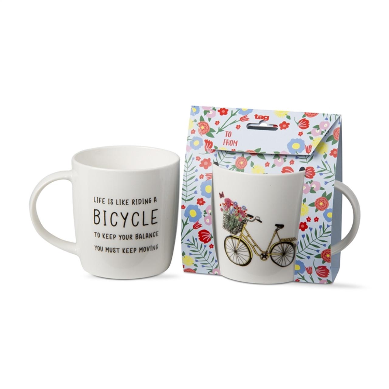 tag Bike Collection - Bone China Mug - 11 Oz. - Keep Moving (TAG 209207)