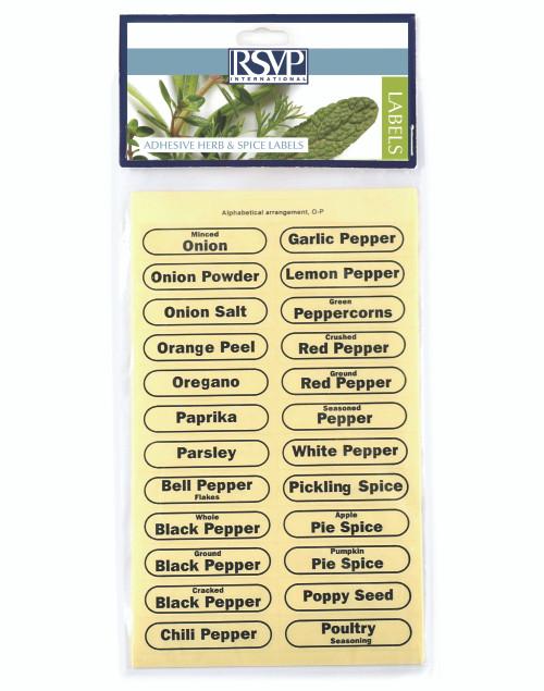 RSVP Labels Collection - Clear Spice Labels (Set of 96) (RSVP LABEL)