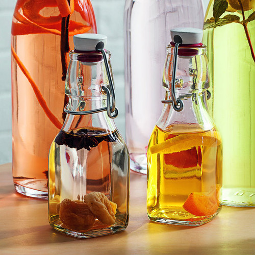 Ideal for infusing oils or beverages the small swing bottle is functional.