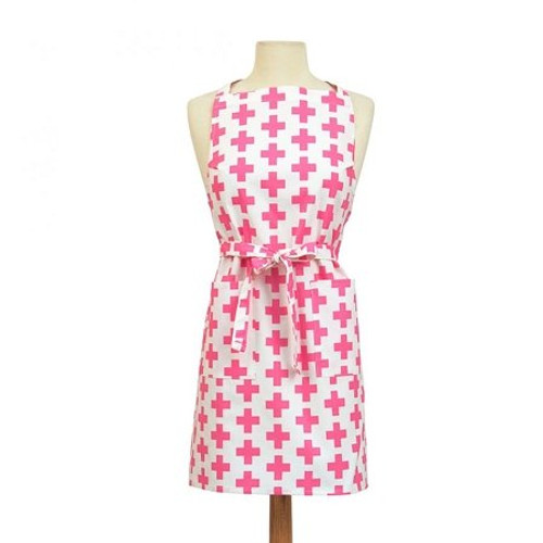 ASD 100% Cotton Apron - Crosses - Pink (ASD 01-374)