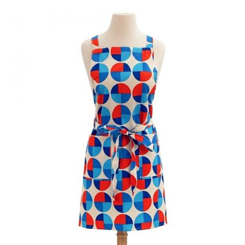 ASD 100% Cotton Apron - Circles - Red White Blue
