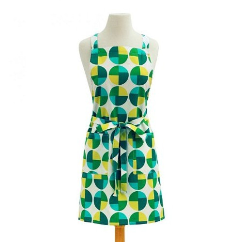 ASD 100% Cotton Apron - Circles - Green (ASD 01-468)
