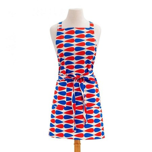 ASD 100% Cotton Apron - Circles - Teardrop - Red White Blue (ASD 01-470)