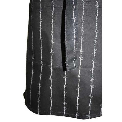 ASD 100% Cotton Childrens Butcher Apron - Andy Barbed & Wired - Black & White (ASD 04-136)