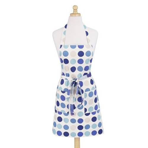 ASD 100% Cotton Apron - Dotted Modern - Blue (ASD 01-537)