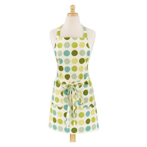 ASD 100% Cotton Apron - Dotted Modern - Green (ASD 01-536)