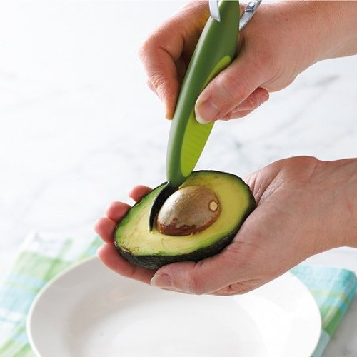 The Trudeau 2 N 1 Avocado Slicer has an end for pitting the Avocado.