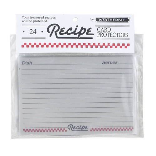 """Weatherbee Recipe Cards Protector, 4"""" x 6"""", Set of 24 (HIC 076)"""