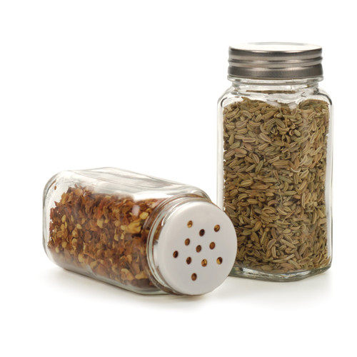 RSVP Endurance Square Glass Spice Bottle- Clear (RSVP SQR-BU)