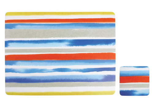 Ladelle Dine Collection - Watercolor Coasters and Placemats