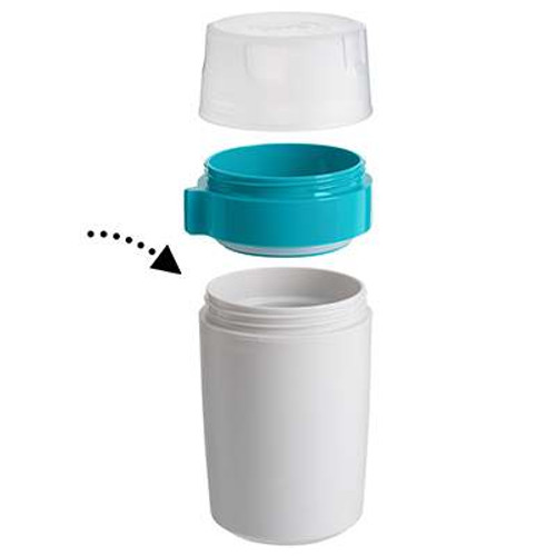Trudeau Fuel Dual Food Container has 2 sections for food storage