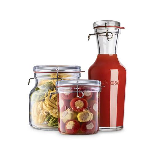 Luigi Bormioli Lock-Eat Collection - Food Jar- 3 Piece Set (LB 12327/01)