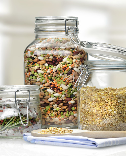 Use the 1L Fido to store rice and grains in style