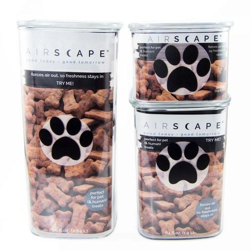 Planetary Design Airscape Pet, Treat & Food Storage Container- Medium, 7 inch (PD AL PP 04)